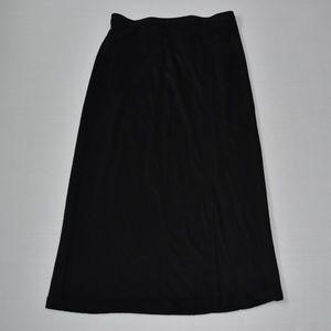 Liz Thomas Vintage Black Maxi Skirt w Slit Sz M